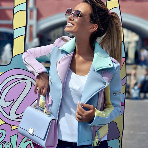 Multicolor Zipper Jacket