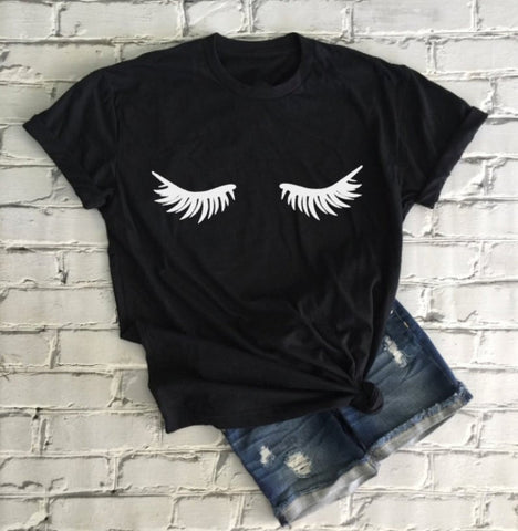 Eyelashes Graphic T- Shirt