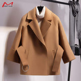 Short Woolen Coat - Available in Plus Sizes