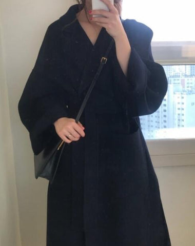 Elegant Winter Wool Long Overcoat