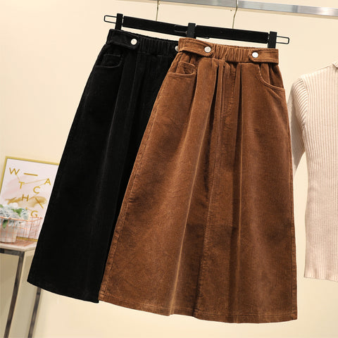 Corduroy Skirt - Available in Plus Sizes