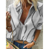Chain Print Blouse - Available in Plus Sizes