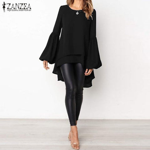 Lantern Sleeve Layered Blouse - Available in Plus Sizes