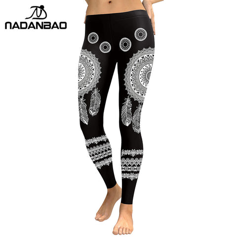 Leggings Mandala Flower Digital Print Fitness