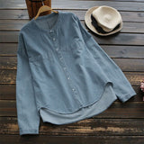 Button Down Denim Top