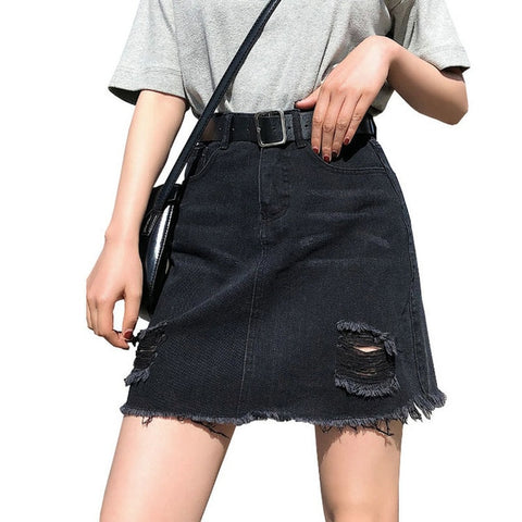 Denim Skirt - Available in Plus Sizes