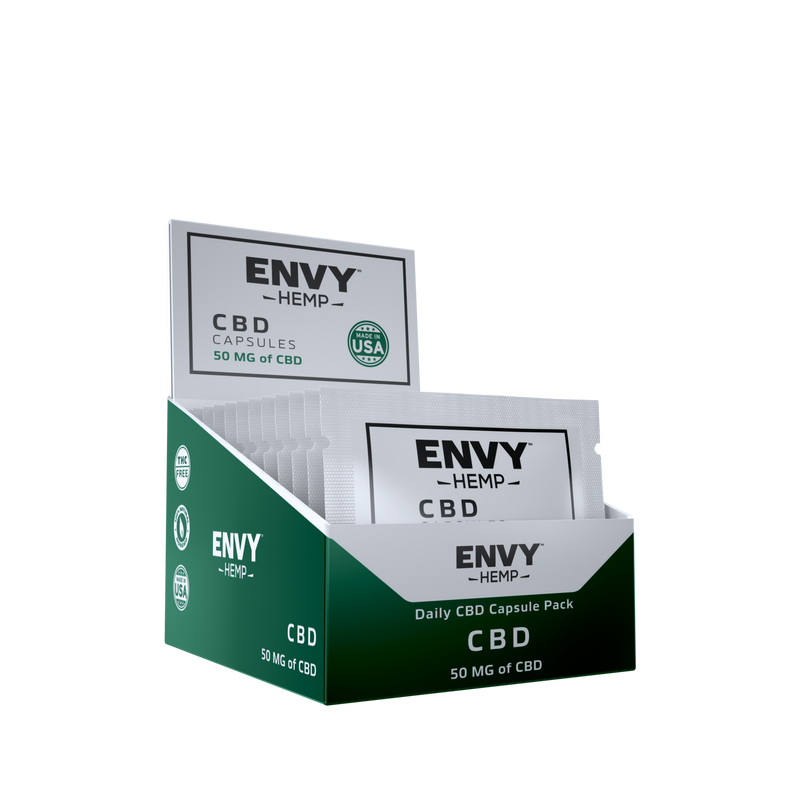 50 MG Pure CBD Capsules - Extra Strength