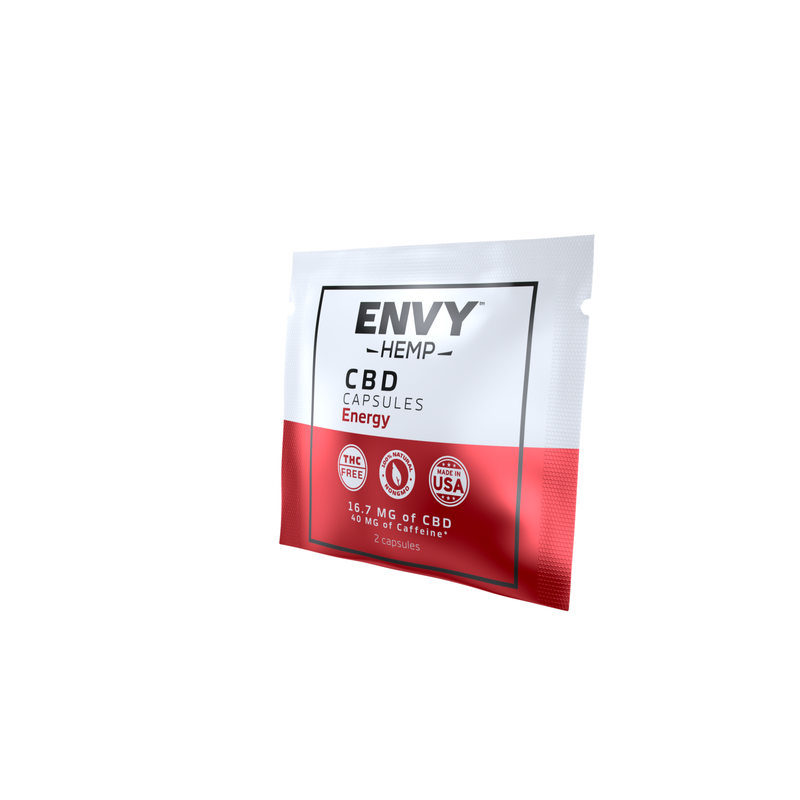 Energy Capsules With 500MG CBD Envy Hemp