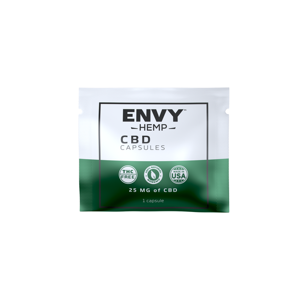Pure CBD Capsules 25 MG - Regular Strength -CBD Envy Hemp