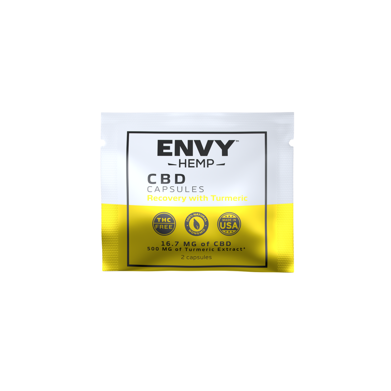 FREE 1 WEEK SUPPLY - Recovery CBD Capsule Sampler Pack -CBD Envy Hemp