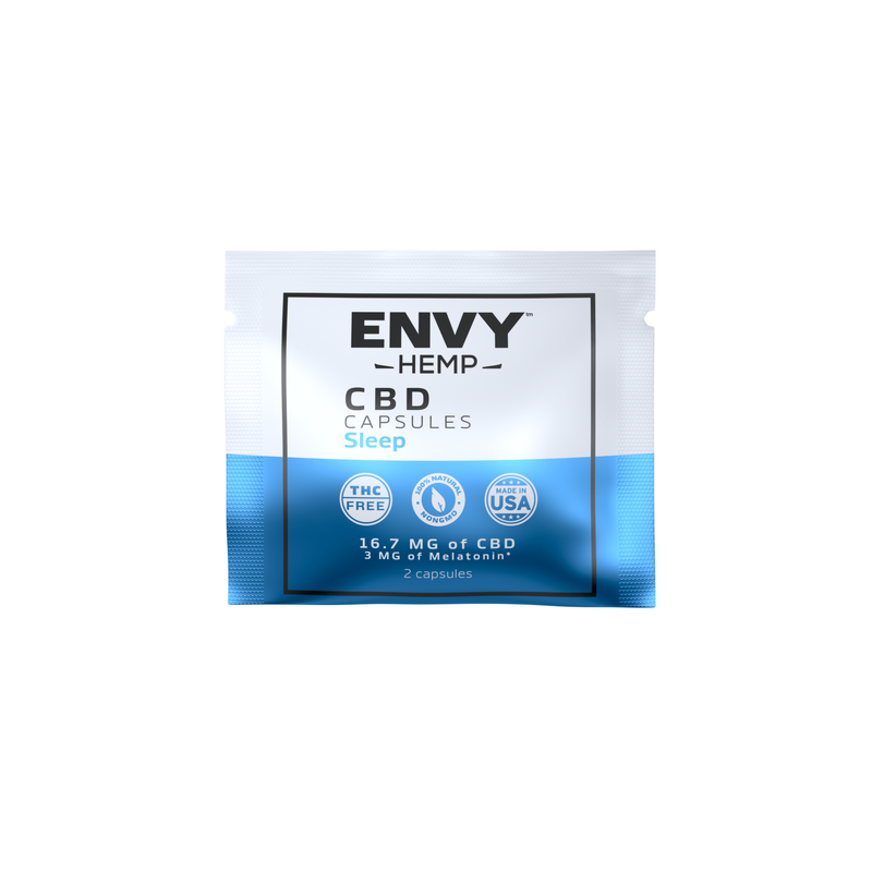 FREE 1 WEEK SUPPLY - SLEEP CBD Capsule Sampler Pack -CBD Envy Hemp