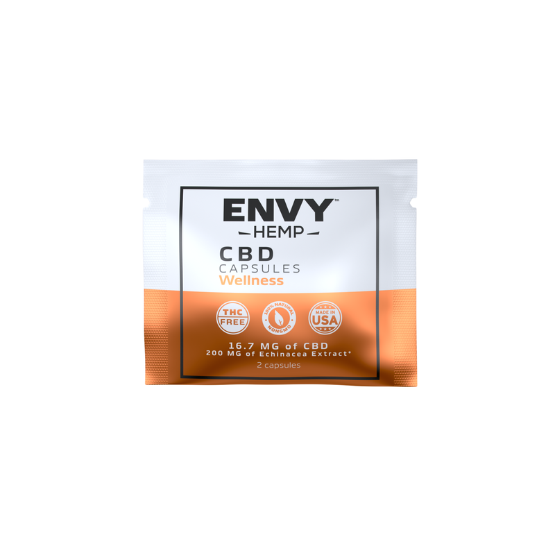 FREE 1 WEEK SUPPLY - Wellness CBD Capsule Sampler Pack -CBD Envy Hemp