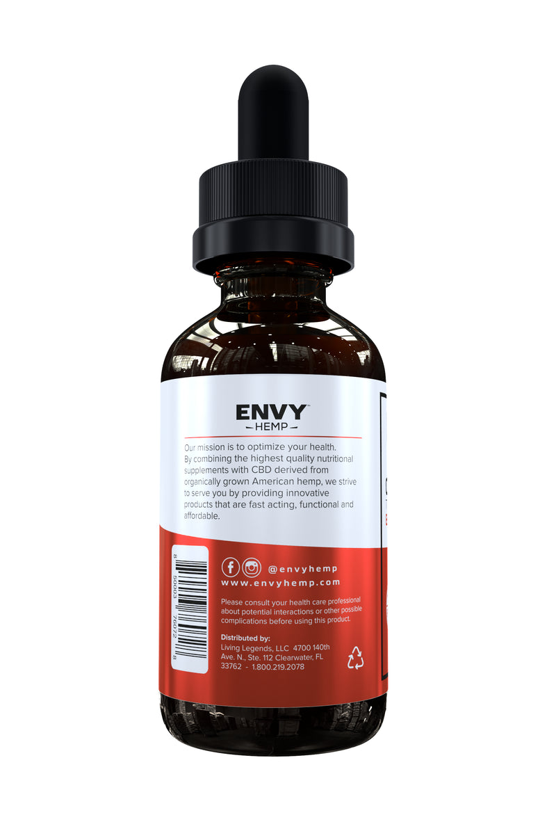 Energy Water-Soluble CBD Tincture -CBD Envy Hemp