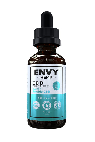 envy hemp pure cbd water soluble tincture used to easily add cbd to drinks