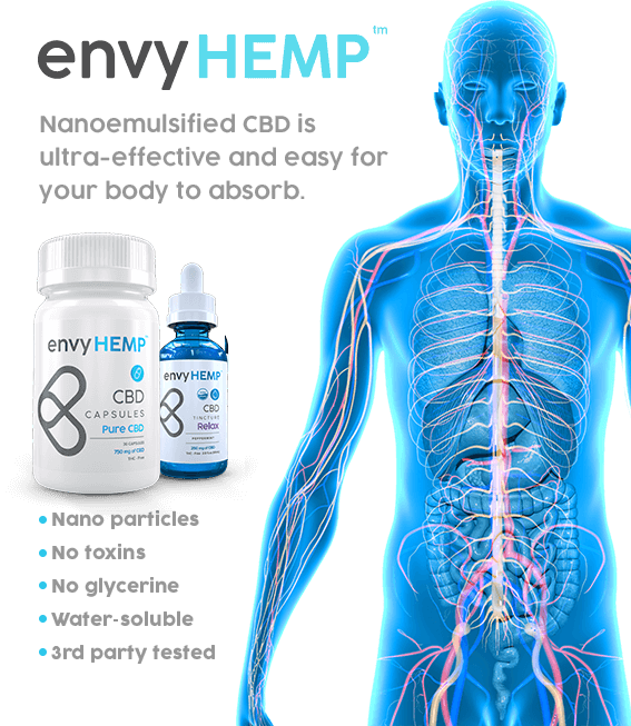Nanoemulsified CBD is ultra-effective and easy for your body to absord
