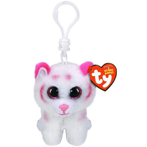 TY Beanie Boos Clip - Tabor Pink/White Tiger