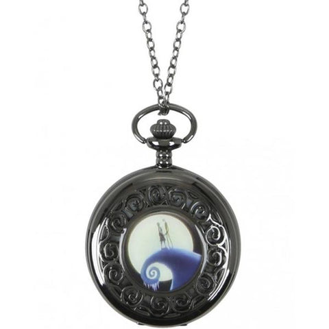 THE NIGHTMARE BEFORE CHRISTMAS - JACK & SALLY POCKET WATCH NECKLACE