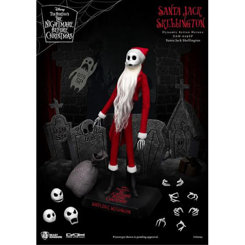 Beast Kingdom Dynamic Action Heroes the Nightmare Before Christmas Santa Jack Skellington