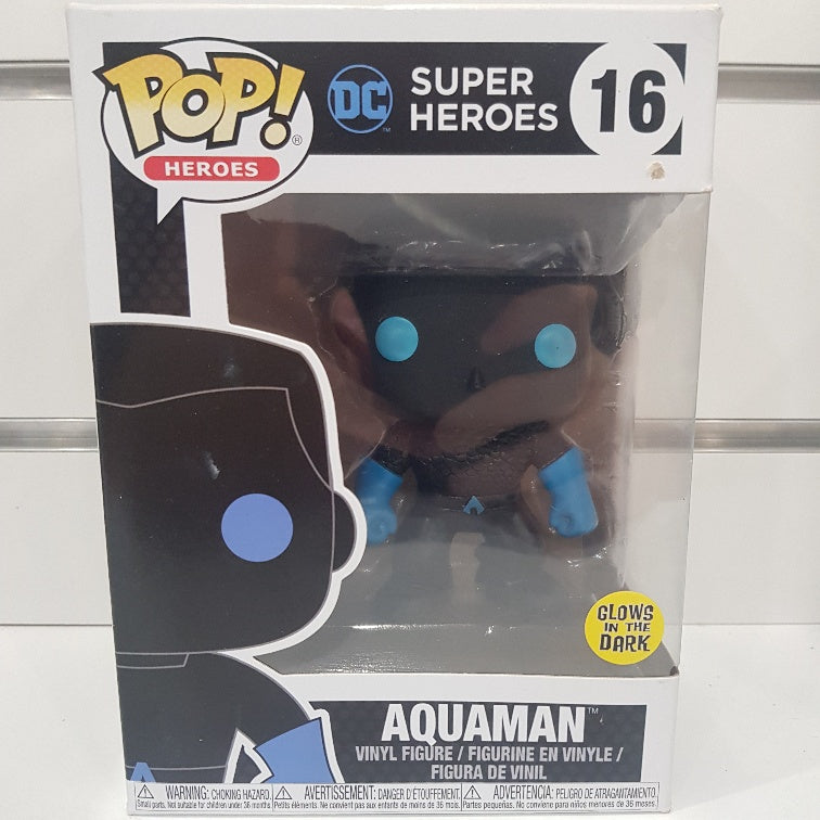 Justice League - Aquaman Silhouette Glow US Exclusive Pop! Vinyl