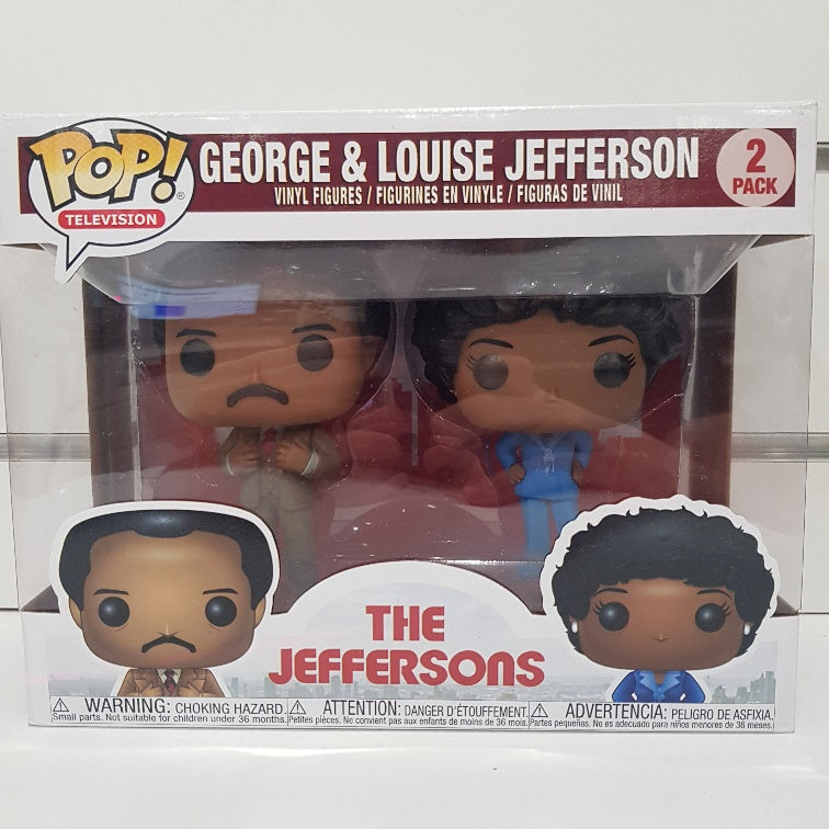 The Jeffersons - George & Louise US Exclusive Pop! Vinyl 2-pack