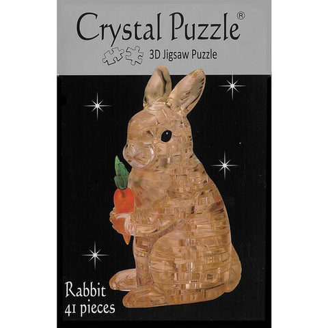 3D Crystal Brown Rabbit Puzzle