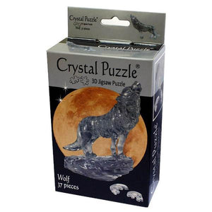 3D Crystal Black Wolf Puzzle