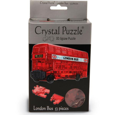 3D Crystal  Red London Bus Puzzle