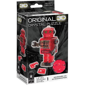 3D Crystal  Red Tin Robot Puzzle