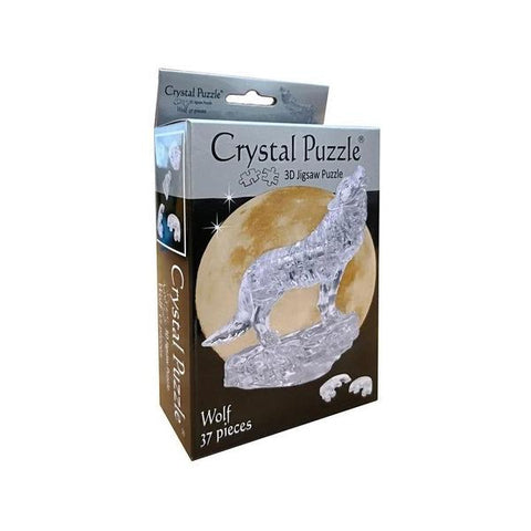 3D Crystal Silver Wolf Puzzle