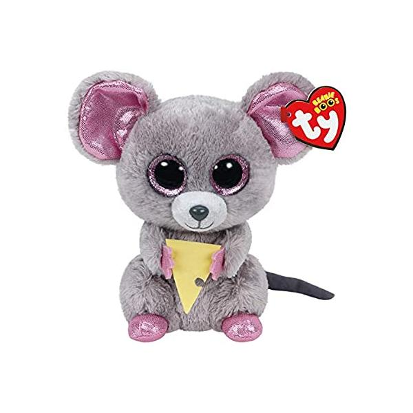 Beanie Boos Squeaker Mouse W/Cheese - Regular Size