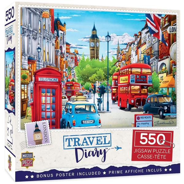 Masterpieces Puzzle Travel Diary London 550 pc Puzzle