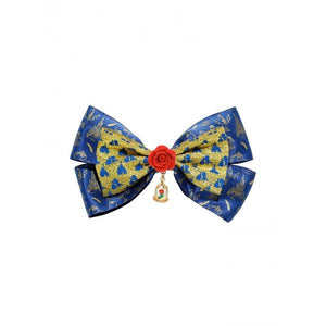 BEAUTY & THE BEAST - ENCHANTED ROSE HAIR BOW