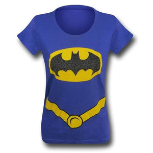 Batman Girls Suit Up Purple Tee Medium