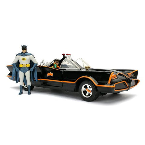 Batman (1966) - Batmobile 1:24 w/Batman & Robin