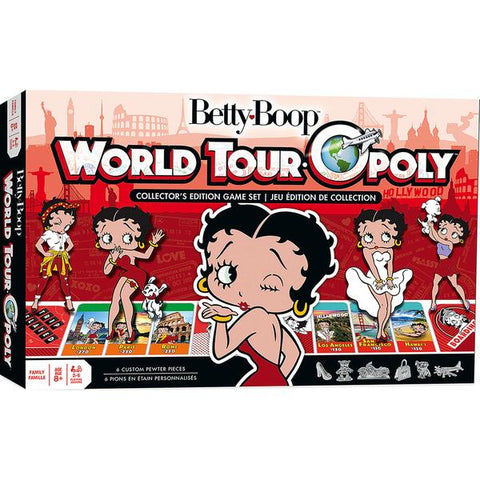 Masterpieces Betty Boop World Tour Opoly