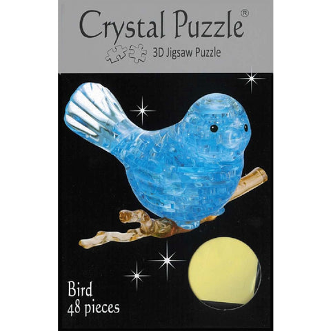 3D Crystal Blue Bird Puzzle