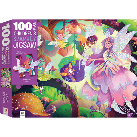Children's Sparkly Jigsaw Fairy Garden 100 Piece Puzzle