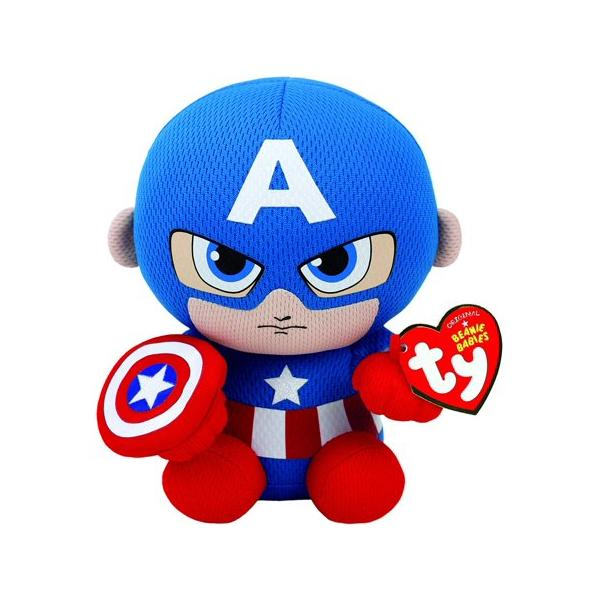 Beanie Babies Captain America Regular Size