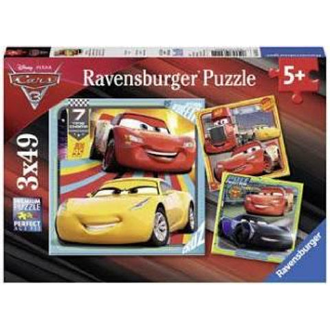 Ravensburger - Disney Cars 3 Collection 3x49 pieces