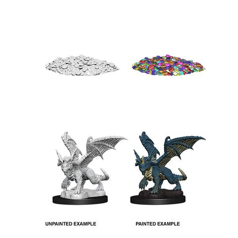D&D Nolzurs Marvelous Unpainted Miniatures Blue Dragon Wyrmling