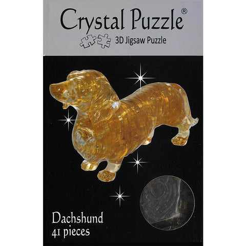 3D Crystal  Dachshund Puzzle