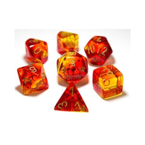 CHX 30024 Gemini Red-Yellow with Gold 7-Die Set