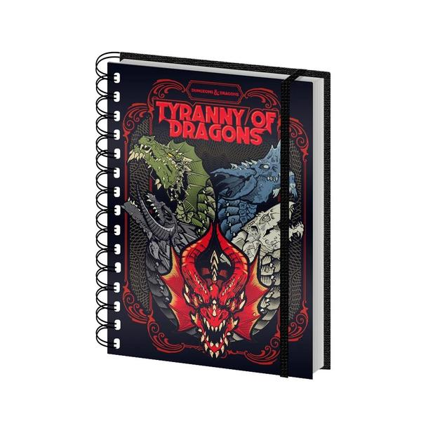 Dungeons & Dragons - Tyranny Of Dragons Spiral Notebook