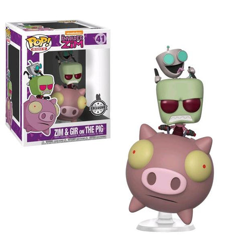Invader Zim - Zim & GIR on The Pig US Exclusive Pop! Ride