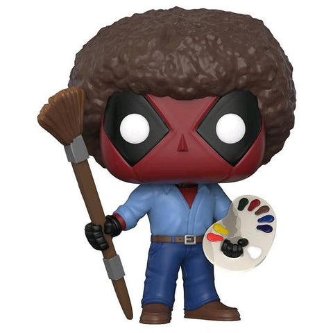 Deadpool - Playtime Bob Ross Pop! Vinyl