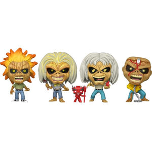 Iron Maiden - Eddie Glow US Exclusive Pop! Vinyl 4-pack