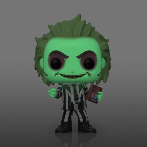 Image of Beetlejuice - Beetlejuice with Handbook Glow NYCC 2020 Pop! Vinyl