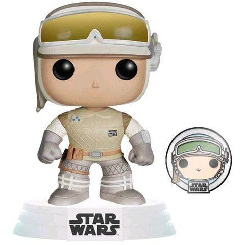 Star Wars: Across the Galaxy - Luke Skywaler Hoth US Exclusive Pop! Vinyl with Pin