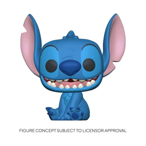 Lilo and Stitch - Stitch Seated Flocked US Exclusive Pop! Vinyl