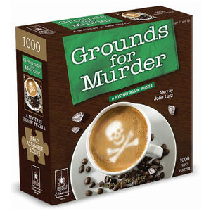 Grounds For Murder Classic Mystery 1000pc  Puzzle